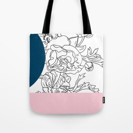 VESSEL - Floral Ink in Peacock & Pink - Cooper and Colleen Tote Bag