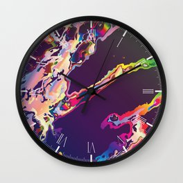 Abstract Gasoline On Water Wall Clock