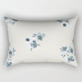 Tossed Flowers Rectangular Pillow