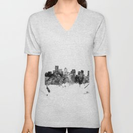 BostonSkyline Massachusetts Unisex V-Neck