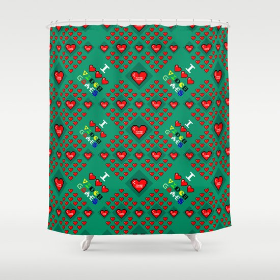 I 3 up video games Shower Curtain