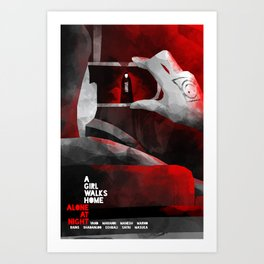 A GIRL WALKS HOME ALONE AT NIGHT :: POSTER 03 Art Print