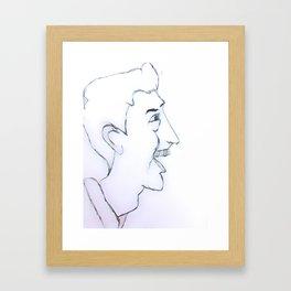 Laughing Man Framed Art Print