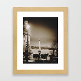 Paris at night Framed Art Print