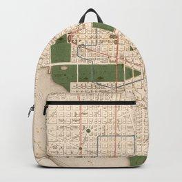 Vintage Map of Washington DC (1876) Backpack