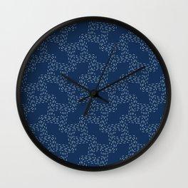 Traditional Sashiko Style Japanese Needlework Wall Clock