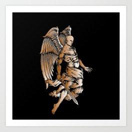 Bronze Figure Art Design Bronze Motif Art Print