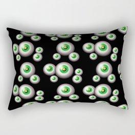 glass eyes - green Rectangular Pillow