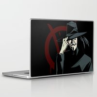 vendetta Laptop & iPad Skins featuring V for Vendetta (e1) by Ezgi Kaya