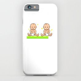 Twins are loading Pregnancy Baby iPhone Case