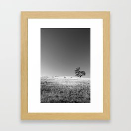 Tree On The Hill No.2 Framed Art Print