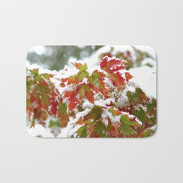 Holiday colors in a clash of seasons Bath Mat