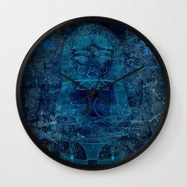 Blueprint X (background) Matryoshka / Nesting Doll Wall Clock
