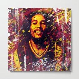B O B Marley | Pop Art | Old School Collection Metal Print