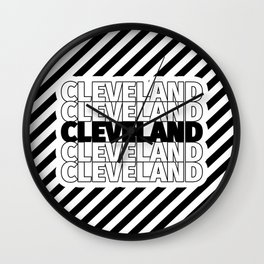 Cleveland USA CITY Funny Gifts Wall Clock