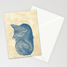 Foxes at Rest Stationery Cards