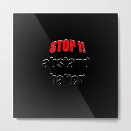 STOP abstand halten Metal Print