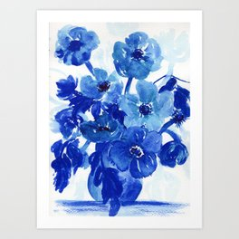 blue stillife Art Print
