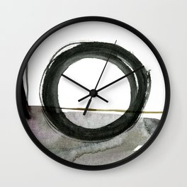 Enso Abstraction No. 112 by Kathy morton Stanion Wall Clock