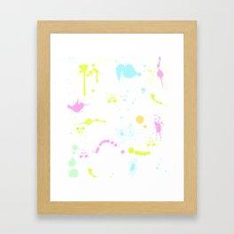 Neon paint splatter 2 Framed Art Print