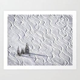 Powder tracks Art Print