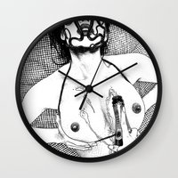 apollonia Wall Clocks featuring asc 617 - Les Libations II (Call upon Her name and she will answer) by From Apollonia with Love