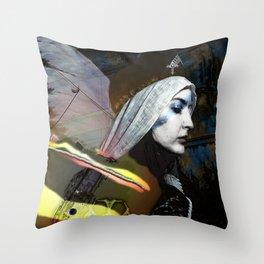 Saint Dymphna Reborn Throw Pillow