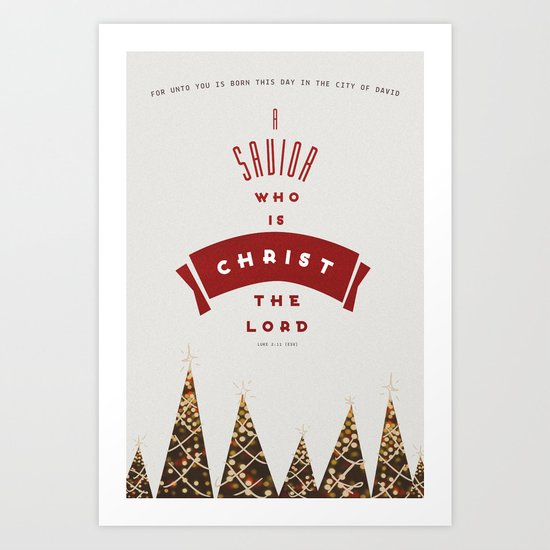 A Savior is Born (Christmas) Art Print