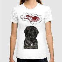 marley T-shirts featuring Marley Dreams of Meat by minouette