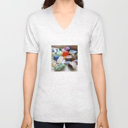 Crystals & Stones by the Window - The Peace Collection Unisex V-Neck