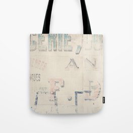 the writing on the wall ... Tote Bag