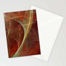 Abstract texture in autumn tones Stationery Cards