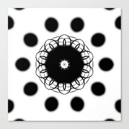 Black And White Mandala Art By Saribelle Rodriguez Canvas Print