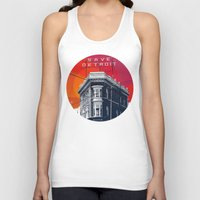 detroit Tank Tops featuring Save Detroit by The Mighty Mitten - Great Lakes Art