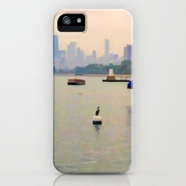Lake by the City iPhone Case