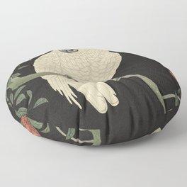Cockatoo and Pomegranate 柘榴に鸚鵡 Floor Pillow