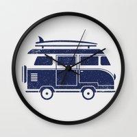 volkswagen Wall Clocks featuring Volkswagen by adovemore