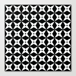 Geometric Pattern 247 (white crosses) Canvas Print