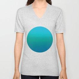 Ombre, Blue to Teal Unisex V-Neck