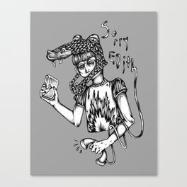 Sorry Edith Canvas Print