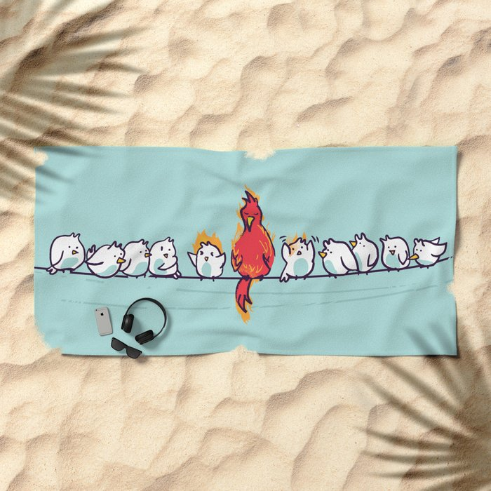 That new guy turns out to be a disaster Beach Towel