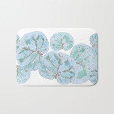 Sea Grape Tropical Leaves Bath Mat