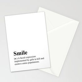 Smile - definition - hipster dictionary - 001 Stationery Cards