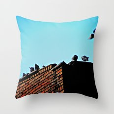 Looking for a Place to Land Throw Pillow