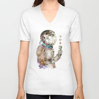 spaceman V-neck T-shirts featuring spaceman by bri.buckley