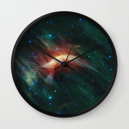 Space storm Wall Clock
