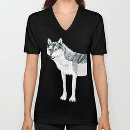 Totem Alberta Wolf Unisex V-Neck