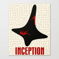 inception Canvas Prints featuring Inception by beware1984