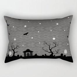Spoopy Cemetery Print Rectangular Pillow