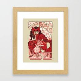 Sorcière Rouge Framed Art Print